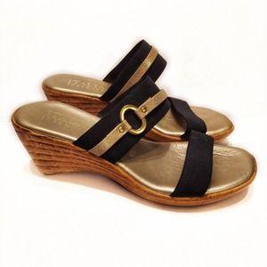 Italian Shoemakers Vivian Wedge Heeled Sandals 8.5